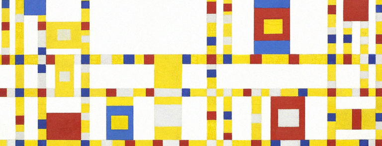 a literary analysis of broadway boogie woogie by piet mondrian Piet mondrian by jeanne willette his last great paintings were broadway boogie-woogie and victory victory boogie-woogie was in progress when mondrian died of.