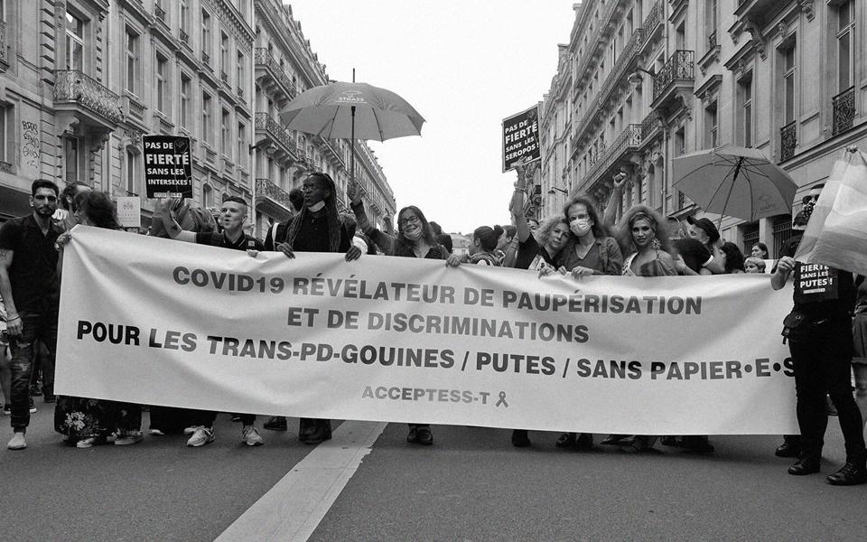 Marche des fiertés, 4 juillet 2020 à Paris, photo d'Acceptess-T